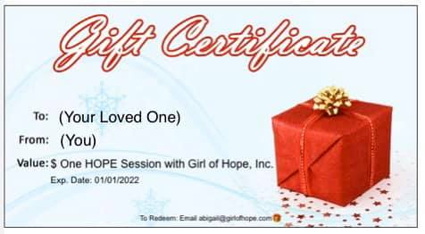 Gift Certificate - Snow